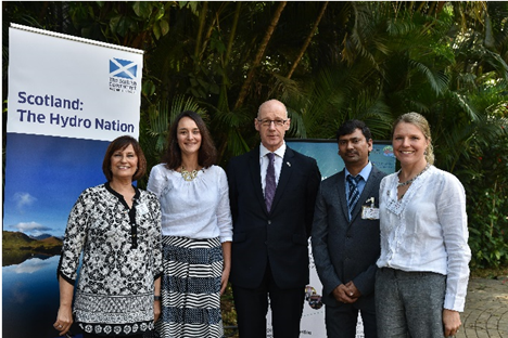 The Hutton Research Team with the Deputy First Minister, John Swinney
